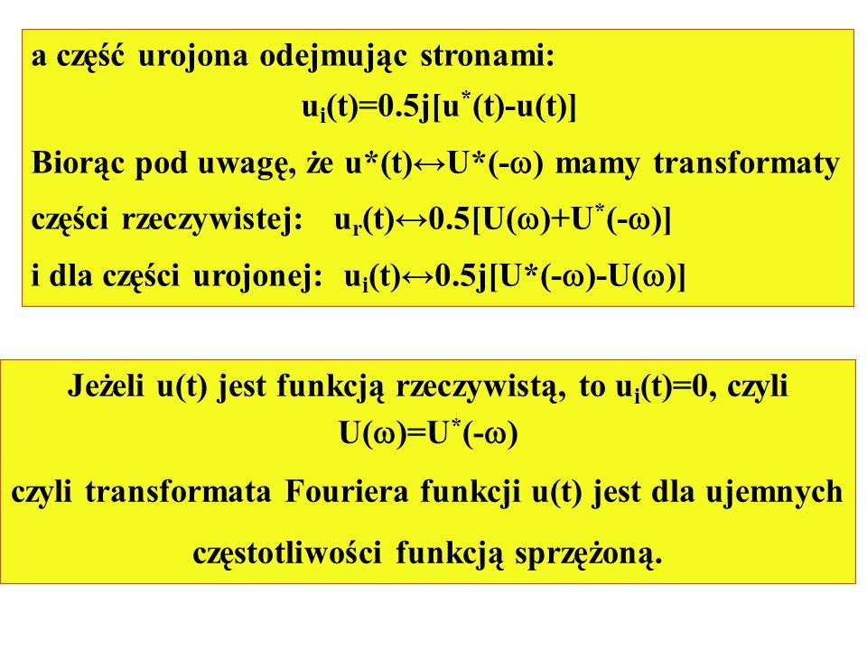 a część urojona odejmując stronami: ui(t)=0.5j[u*(t)-u(t)]